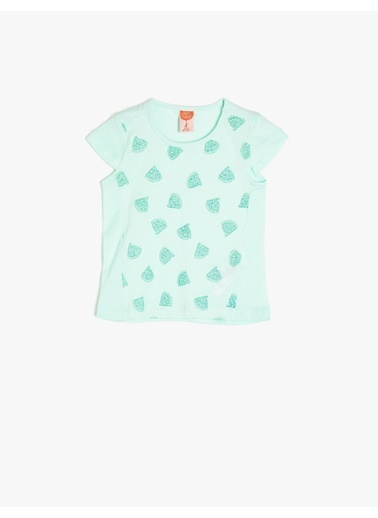 Koton Kids Baskılı T-Shirt Yeşil